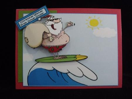 Is That Santa Surfing in the Sun? in Card Gallery