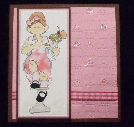 Knicker Bocker Glory Doodles Digital Stamp in Card Gallery