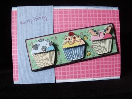 Mint Cupcakes Dl in Card Gallery