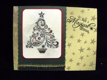 Elegant Christmas Greetings Matching Backing Paper in Card Gallery