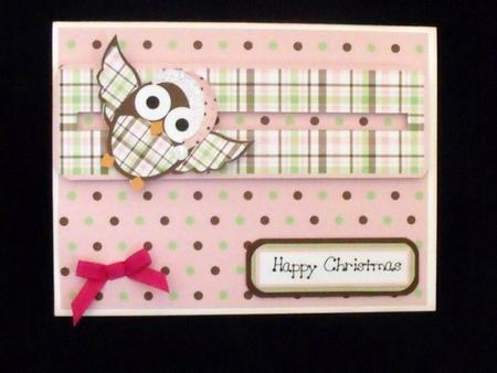 Christmas Owl Slider Card in Card Gallery