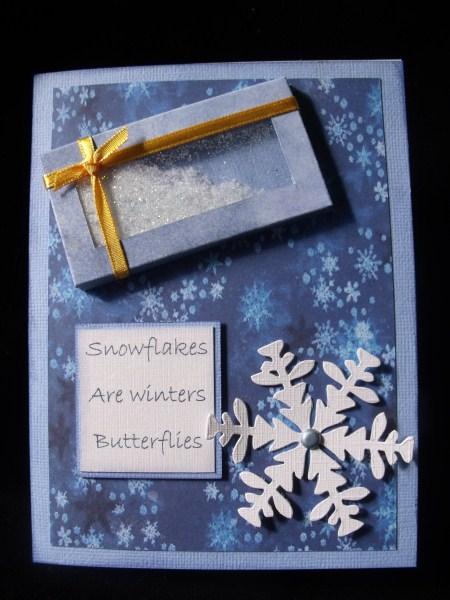 Blue Snowflake Paper in Card Gallery