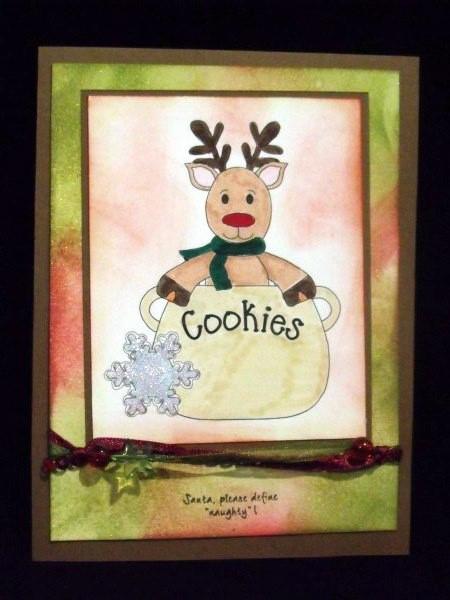 Christmas Cookie Jar Digital Stamps 4 in Card Gallery