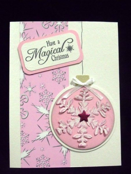 Pink and White Snowflakes in Card Gallery