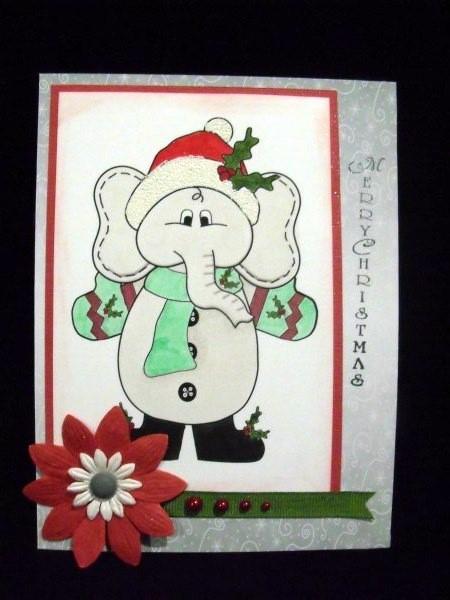 Christmas Ellie Digital Stamp in Card Gallery