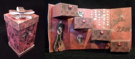 Rock Diva Guitar Keepsake Treasure Box Card Kit in Card Gallery