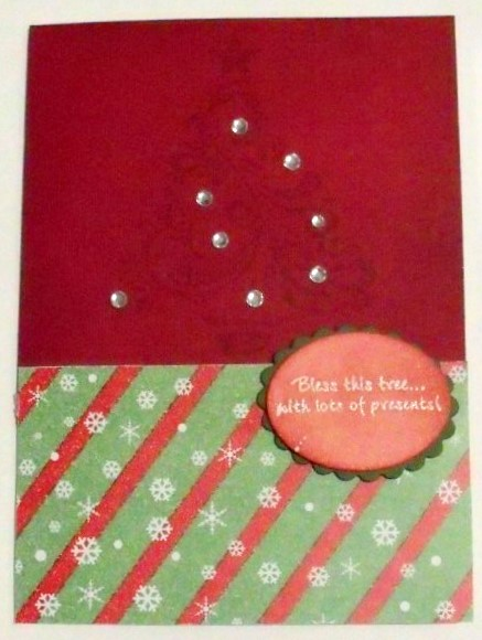 Diagonal Lines & Snowflakes Christmas Background 1 in Card Gallery