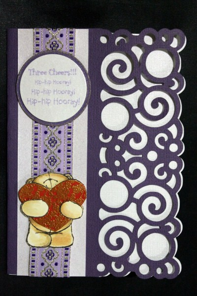 Curly Edge Card - Sil Studio in Card Gallery