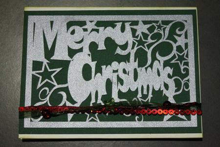 Merry Christmas Star Rectangular Panel - Silhouette in Card Gallery