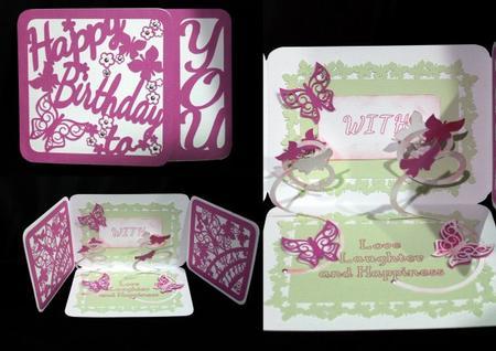 Gatefold Spring Down Card Butterflies - Birthday GSD in Card Gallery
