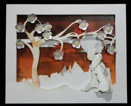 Oriental Scene 3D Card in Card Gallery