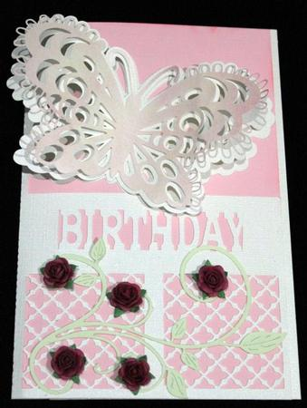 Scalloped Butterfly Edged Layered Card - craftrobo/cameo in Card Gallery