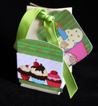 2 Green Cupcake Mouse Pocket Toppers 1 in Card Gallery
