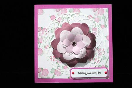 Pink Flowers Backing Paper in Card Gallery