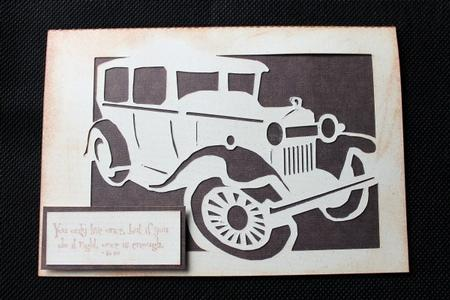 Vintage Vehicle Trio of Cards GSD Files in Card Gallery