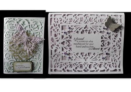 Baker's Dozen Fancy Frame Cards. Craftrobo/cameo. in Card Gallery
