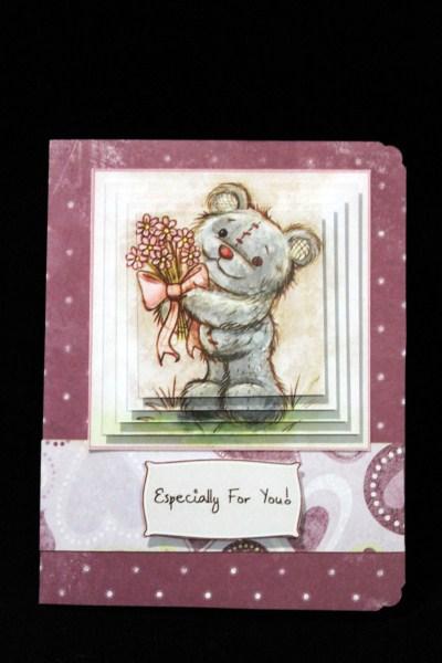 Freddy the Teddy Pyramid Topper Sheet in Card Gallery