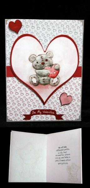 Freddy the Teddy Flowers Insert in Card Gallery