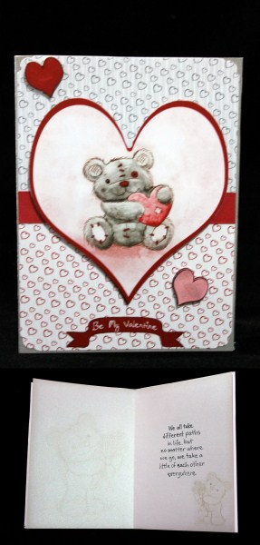 Freddy the Teddy A4 Valentine Topper in Card Gallery