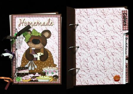 Pink Cooking Bear Recipe Book Kit in Card Gallery
