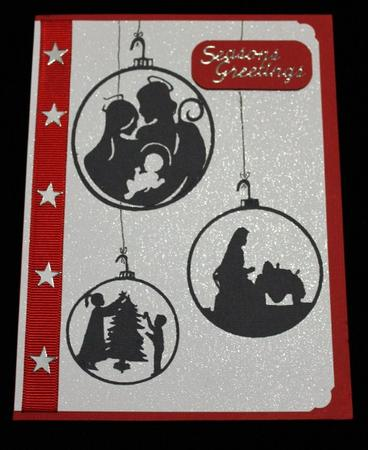 Robo Tree & Bauble Silhouettes in Card Gallery