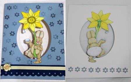 Daffy Bunny Doodles Large Image (backside) in Card Gallery