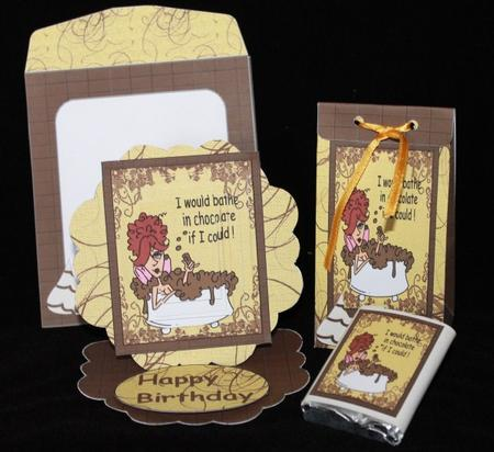 Bathe in Chocolate Pyramid Easel Card Kit in Card Gallery