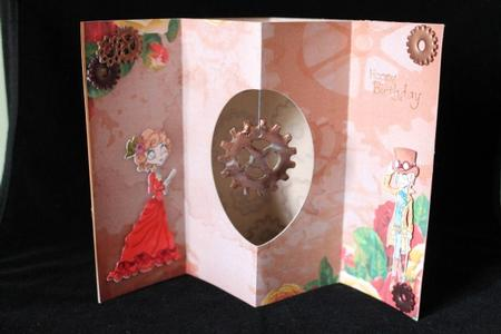Vintage Steampunk Floral Background A4 in Card Gallery