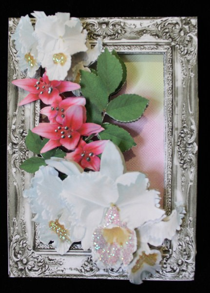 Inside Out Card White Orchids and Pink Lillies in Card Gallery