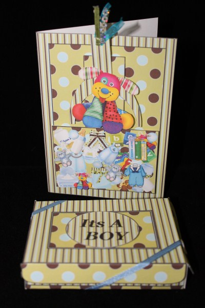 Baby Boy Grabber Slider Card Kit in Card Gallery