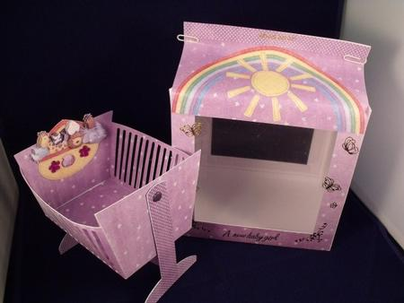 Card Gallery - Noahs ark swinging crib with gift bag