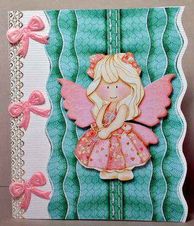 Card Gallery - Triple Layer Ruffled Trim - Light Colours