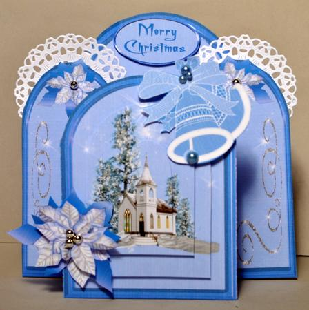 Card Gallery - Archway kit - Church with poinsettias