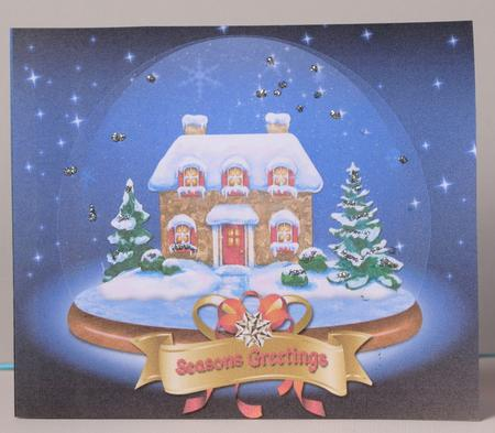 Card Gallery - Christmas Cottage in a Snow Globe