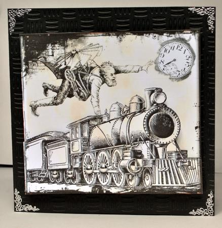 Card Gallery - Trying to Catch the Train the Hard Way Quick Card Topper