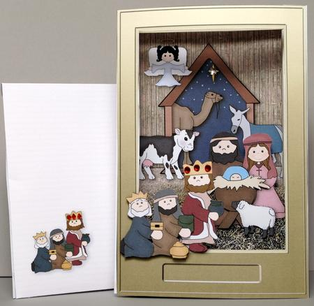 Card Gallery - Nativity Shadow Box Accordion Card Kit