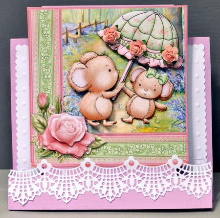 Card Gallery - PARASOL MICE 7.5 x 7.5 Mini Kit and Decoupage