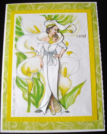 Card Gallery - floral ladies-Lady calla Lily