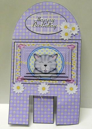 Card Gallery - Cute grey cat gallery easel