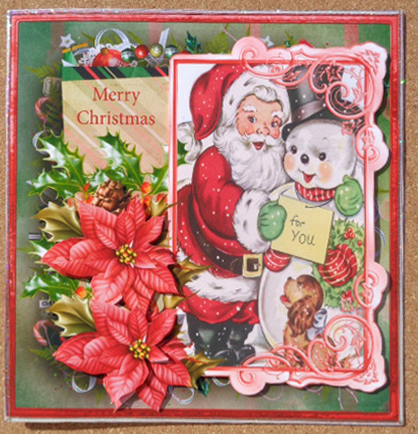 Card Gallery - Vintage Santa and the snowman 7x7 card