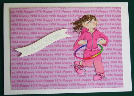 Pink Happy 40th Landscape Backing Sheet in Card Gallery
