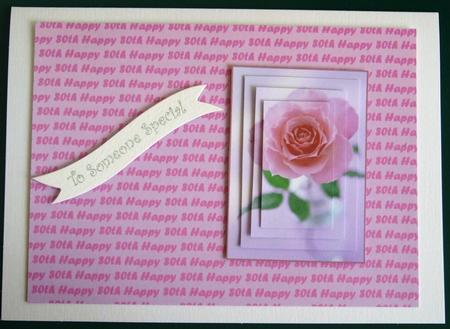 Pink Happy 80th Landscape Backing Sheet in Card Gallery
