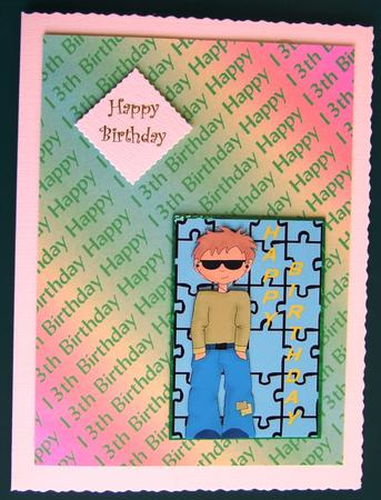 Happy 13th Birthday Background in Card Gallery