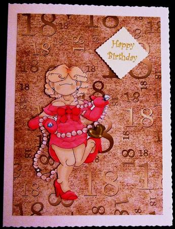 Natural Gold 18 Birthday A4 Backing Paper in Card Gallery
