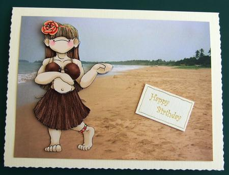 Hula Dancing Doodles in Card Gallery