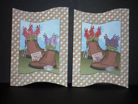 Card Gallery - Flowers in Boots Wave Card Kit