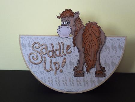 Card Gallery - Saddle Up Wobble Over the Top Pop-Up Card
