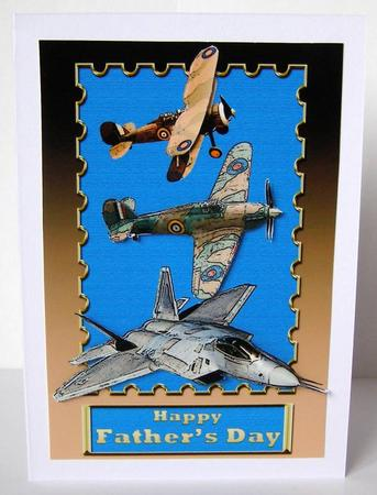 Card Gallery - Old and New Fighter Plane Card Front