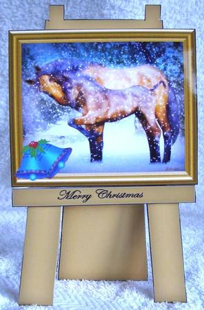 Card Gallery - horses in the snow