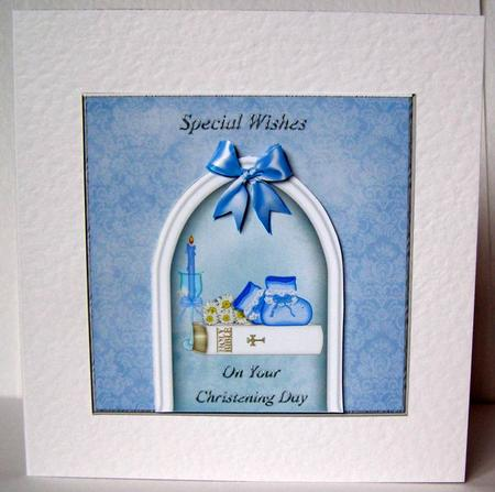 Card Gallery - Bootees & Bible Christening Card 2